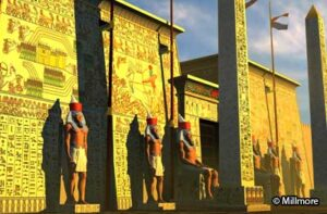 Pylon of Rameses II at Luxor Temple - 3D reconstruction