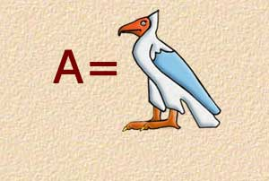 A - Vulture - Alphabet Symbol