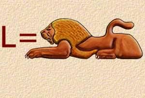 L - lion - Alphabet