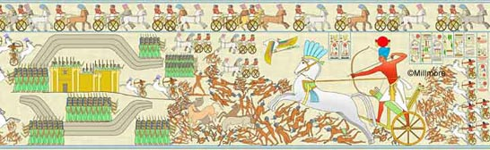 Battle of Kadesh from the east tower