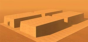 reconstruction of four mastaba tombs.