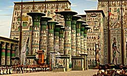 3D Egyptian temple reconstructions