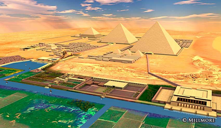 Pyramids of giza for Architecture design company in egypt