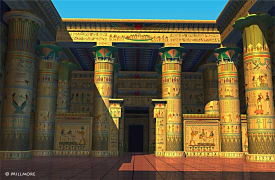 Temple of Isis at Philae Reconstruction