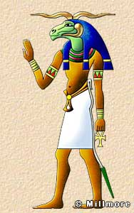 Ancient egyptian gods and goddesses illustrated descriptions and stories khnum publicscrutiny Image collections
