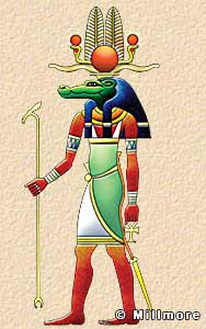 Ancient egyptian gods and goddesses illustrated descriptions and stories sobek publicscrutiny Image collections