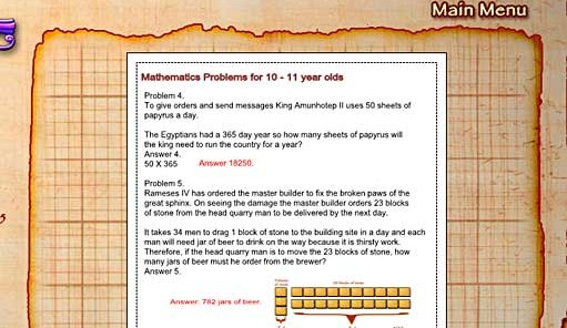 Egyptian Math Worksheet Creator – Math Worksheet Creator