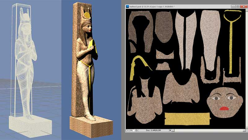 The image map applied to the surface of the statue
